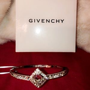 Givenchy Swarovski Bangle Bracelet   Color:Silver